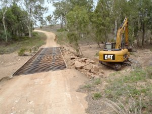 Rock Protection on rural roads in Charters Towers Regional Area
