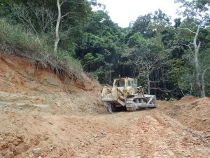 Preparation for cutback at quarry expansion in Cairns