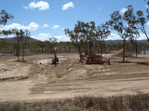Dam Construction works at Brookhill